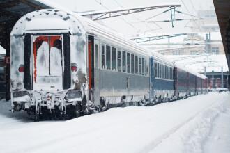 Traficul feroviar, dat peste cap de viscol. CFR a anulat 58 de trenuri