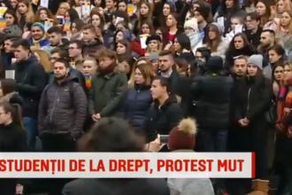 Protest mut al studenților de la Facultatea de Drept, fața de modificărille la Legile Justiției