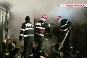 Pericol de explozie în Prahova. O casă, distrusă de flăcări
