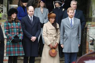 Premieră în Familia Regală Britanică. Prinţul Harry şi Meghan Markle, la slujba de Crăciun