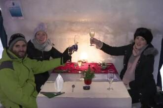"""Turiștii din toată lumea, impresionați de hotelul de gheață de la Bâlea Lac. """"A fost visul meu"""""""