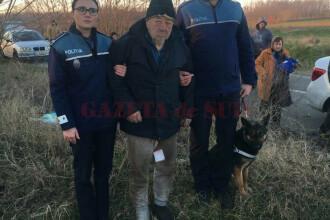 Bătrân din Dolj plecat de acasă, găsit cu ajutorul câinilor şi al unui elicopter cu termoviziune