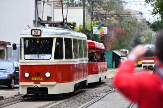 Paradă a tramvaielor de epocă, în Capitală, de Ziua Națională
