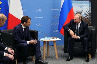 Gestul făcut de Putin ca să-i explice lui Macron de ce a sechestrat navele ucrainene din Marea Azov