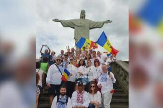 Românii din Brazilia au sărbătorit 1 Decembrie cu șuncă și pălincă, lângă statuia lui Iisus