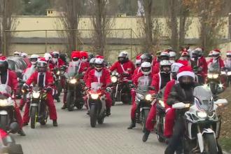 Paradă inedită, cu motocicliști costumați în Moș Crăciun. VIDEO