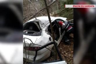 Accident grav în Harghita. Patru femei s-au răsturnat cu mașina într-o prăpastie