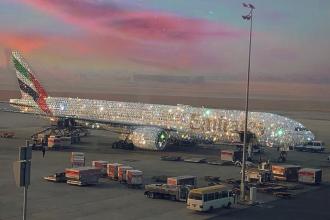 Adevărul din spatele imaginii cu avionul din Emiratele Arabe acoperit cu diamante