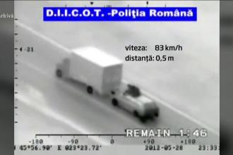 Jaf de 19 secunde, la 100 km/h. O singură greșeală poate însemna moartea pentru hoți