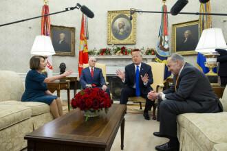 Scene incredibile în Biroul Oval: Trump a început să se certe cu opoziția. VIDEO