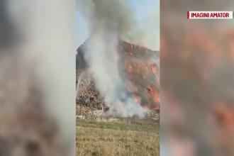 Incendiu puternic lângă groapa de gunoi a Clujului. 5 case au fost mistuite de flăcări