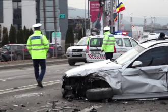 Accident în lanț la ieșirea din Cluj-Napoca. Eroarea comisă de un șofer