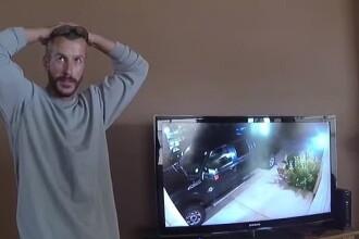 Reacția unui criminal filmat în timp ce urcă în mașină cadavrele familiei