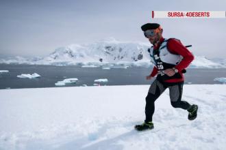 Românul care a alergat 250 km la Polul Sud, la -60 de grade Celsius, pentru o cauză nobilă