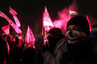 A treia noapte de proteste împotriva