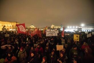 """Protest la Viena față de coaliția de dreapta aflată la putere. """"Rasismul miroase urât"""""""