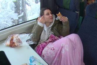 Condițiile inumane în trenurile blocate: fără apă, căldură sau acces la toalete
