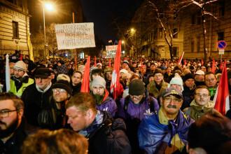 Protestatarii din Ungaria, însoțiți de politicienii din opoziție. Mesajul Guvernului