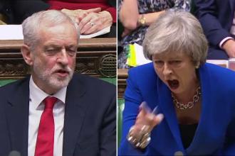 """Momentul în care Theresa May e făcută """"femeie proastă"""". Noile reguli pentru imigranţi"""
