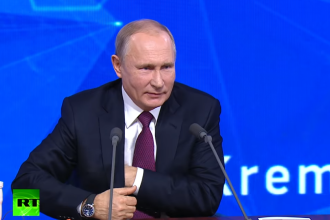 Reacția lui Vladimir Putin, întrebat dacă vrea să conducă lumea. VIDEO