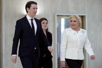 """Dăncilă, întrevedere cu omologul său austriac: """"Vizita cancelarului austriac, moment important"""""""
