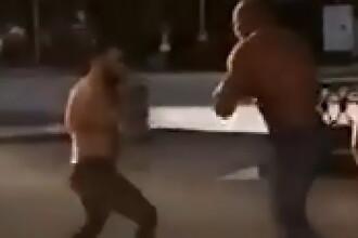 Momentul în care un campion european la haltere este ucis de un luptător de MMA. VIDEO
