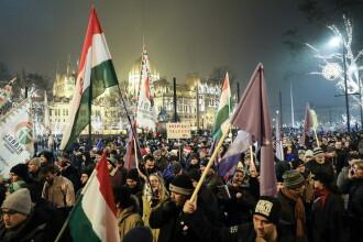 """Maghiarii nu cedează. Mii de oameni au protestat la Budapesta față de """"legea sclaviei"""""""