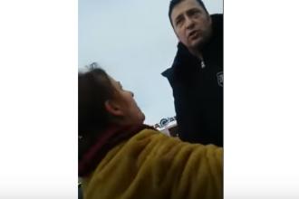 Inspector OPC, lovit și înjurat de un șofer în parcarea unui hipermarket. VIDEO