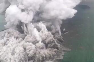 Momentul erupţiei vulcanului din Indonezia. Ar putea urma un nou tsunami devastator