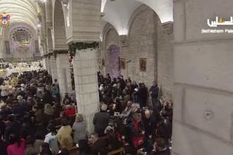 Zeci de mii de oamenii au petrecut Crăciunul în Betleem