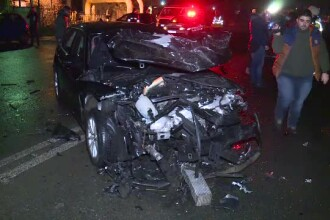 Accident în lanț în București. Patru mașini au fost avariate pe Bvd Nicolae Grigorescu