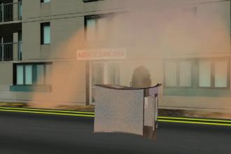 ANIMAȚIE GRAFICĂ. Cum au acționat hoții care au aruncat în aer bancomatul, la Brașov