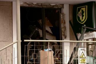 Hoții care au aruncat în aer bancomatul din Brașov au folosit metoda spărgătorilor din UK