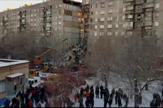 Tragedie în Rusia: un bloc s-a prăbușit parțial. Patru morți și 68 de dispăruți. VIDEO