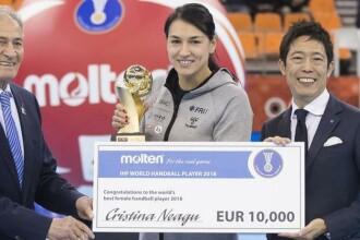Cristina Neagu a primit în Japonia trofeul pentru cea mai bună jucătoare a lumii în 2018