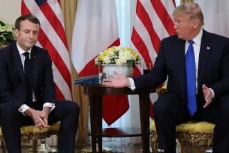 Donald Trump vrea mai mulți bani pentru NATO. Este în conflict cu Emmanuel Macron