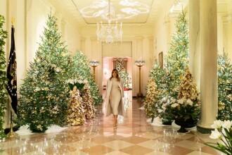 Imagini superbe de la Casa Albă. Ce decorații a ales Melania Trump pentru Crăciun