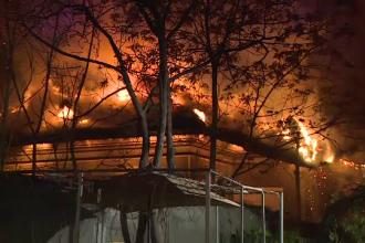 """Incendiu puternic la o casă din Sectorul 2. """"O să ajungem iar pe străzi"""""""