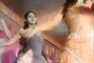 Scene şocante la o nuntă. Motivul pentru care o dansatoare a fost împușcată în cap