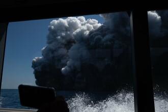 Primele imagini cu erupția vulcanică din Noua Zeelandă. Sunt 5 morți şi mai mulţi răniţi