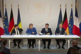 """Putin: Summitul de la Paris, """"pas important"""" pentru detensionare. Anunțul lui Macron"""