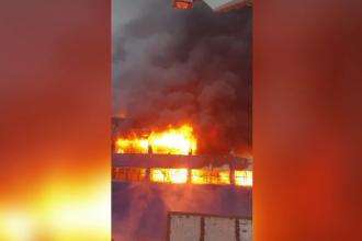 Hală din Câmpia Turzii distrusă complet de un incendiu. Trebuia inaugurată în 2020