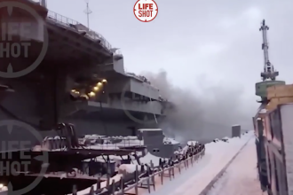 Incendiu la bordul portavionului Amiral Kuzneţov, mândria flotei lui Putin
