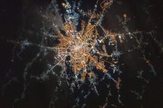 Bucureștiul, văzut din spațiu. Imaginea publicată de NASA
