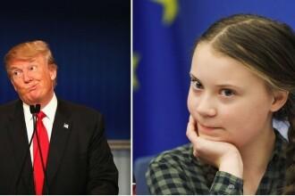 """Conflict acid între Donald Trump și Greta Thunberg. """"Cât de ridicol, relaxează-te!"""""""