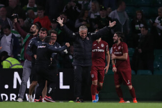 Calificare! CFR câștigă cu 2-0 meciul contra Celtic și se califică în primăvara europeană