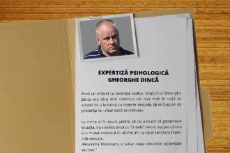Raportul profilului psihologic al lui Gheorghe Dincă scoate la iveală detalii terifiante