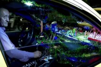 Taxiul de Crăciun ce face furori în Columbia. Are pe bord scena Nașterii Domnului