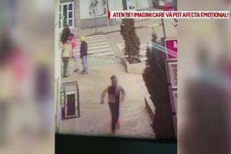 Scene de groază în Tecuci. Momentul în care un bărbat își atacă soția și este împușcat