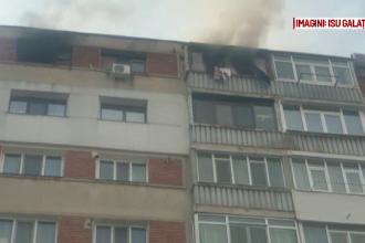 Pompierii din Galați au salvat o femeie dintr-un apartament incendiat INTENŢIONAT